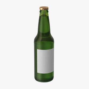 green beer bottle 3d model
