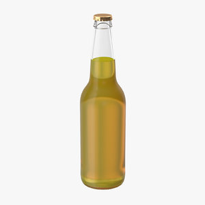 yellow beer bottle 3d model