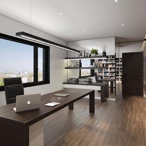 scene hotel office 3d max