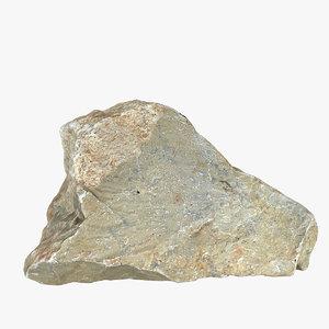 flint stone 3d model