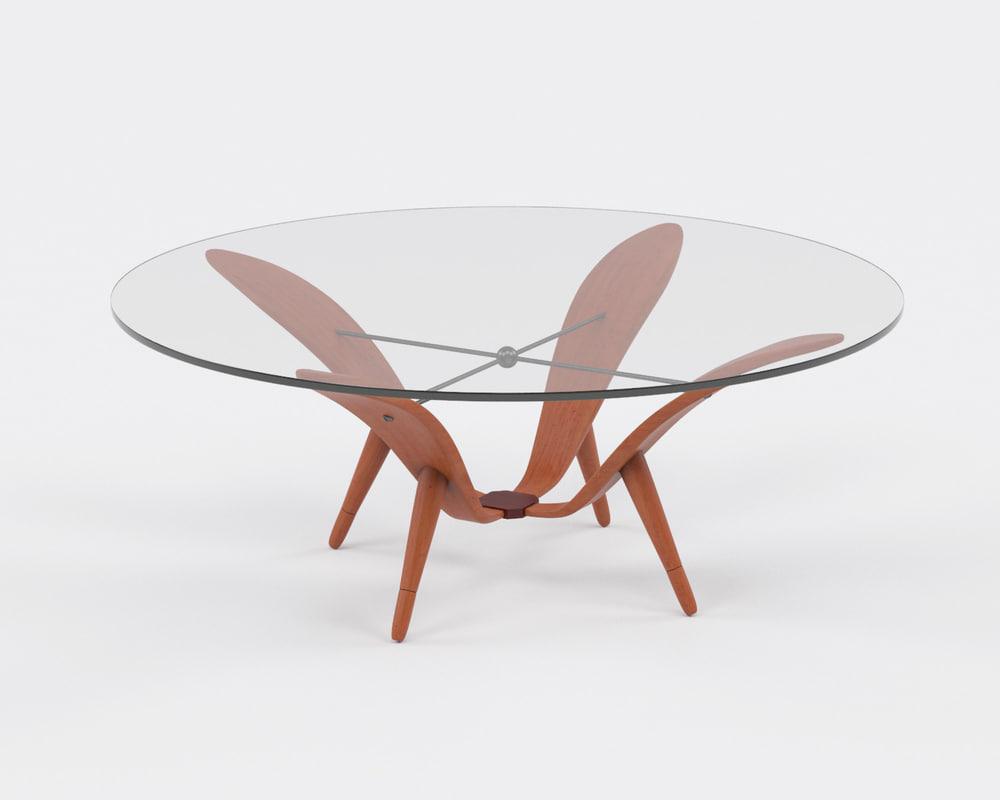 3d table rare modernist model