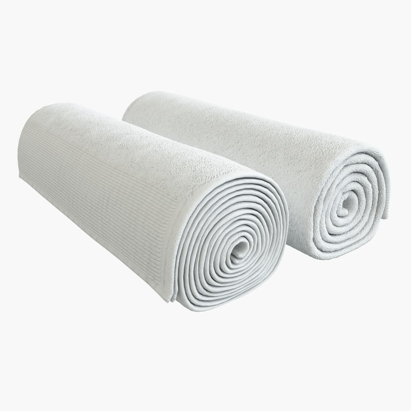 rolled towel 3d max