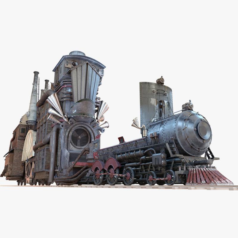 3d train house