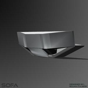 3d model andromeda sofa