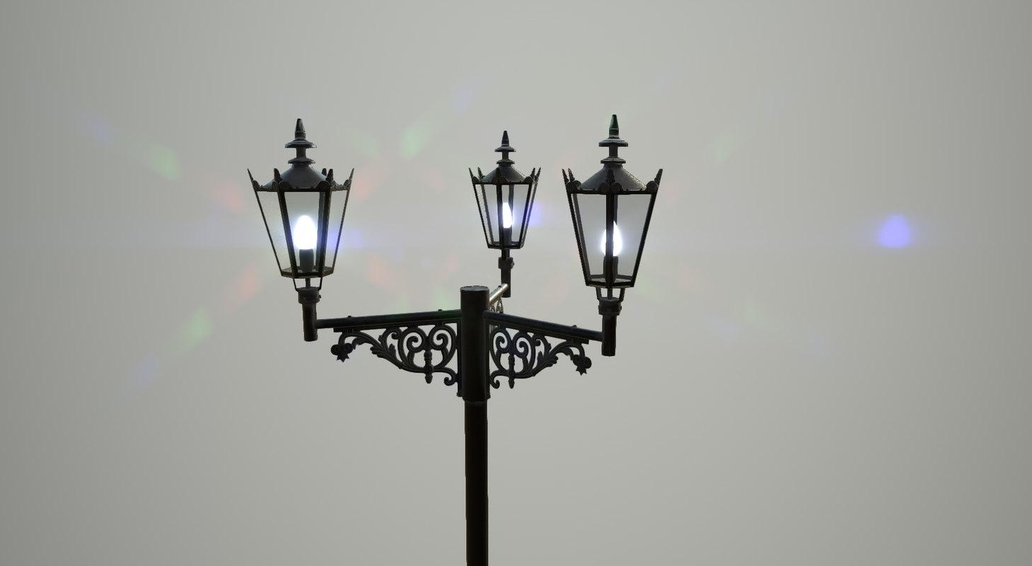 street light 3d 3ds