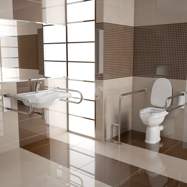 elderly disabled bathroom interior c4d