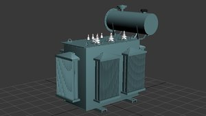transformer electricity 3d model