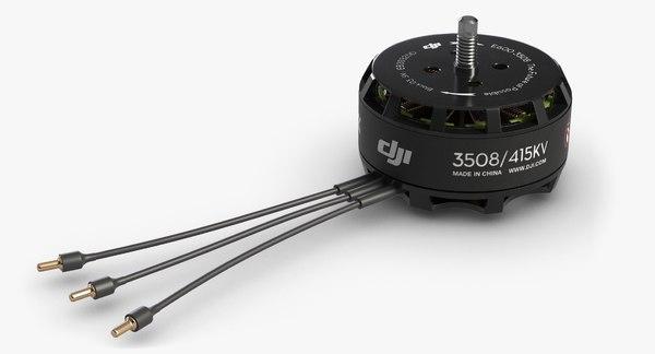 drone dc motor dji 3d model