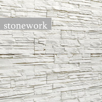 Stone slate wall white