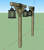3d model of torch sketchup dae