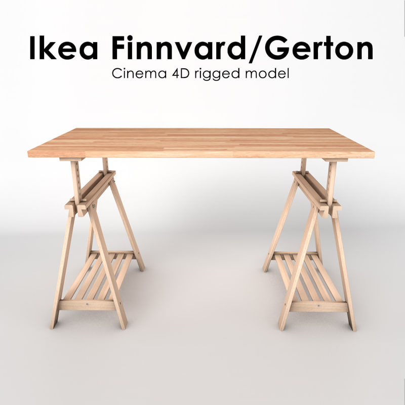 ikea table finnvard gerton 3d 3ds