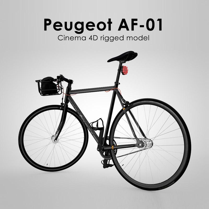 3d model peugeot af-01 rigged