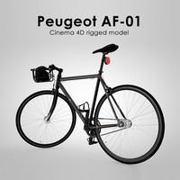 3d peugeot af-01 rigged model