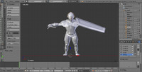 3d model of rigged swordsman