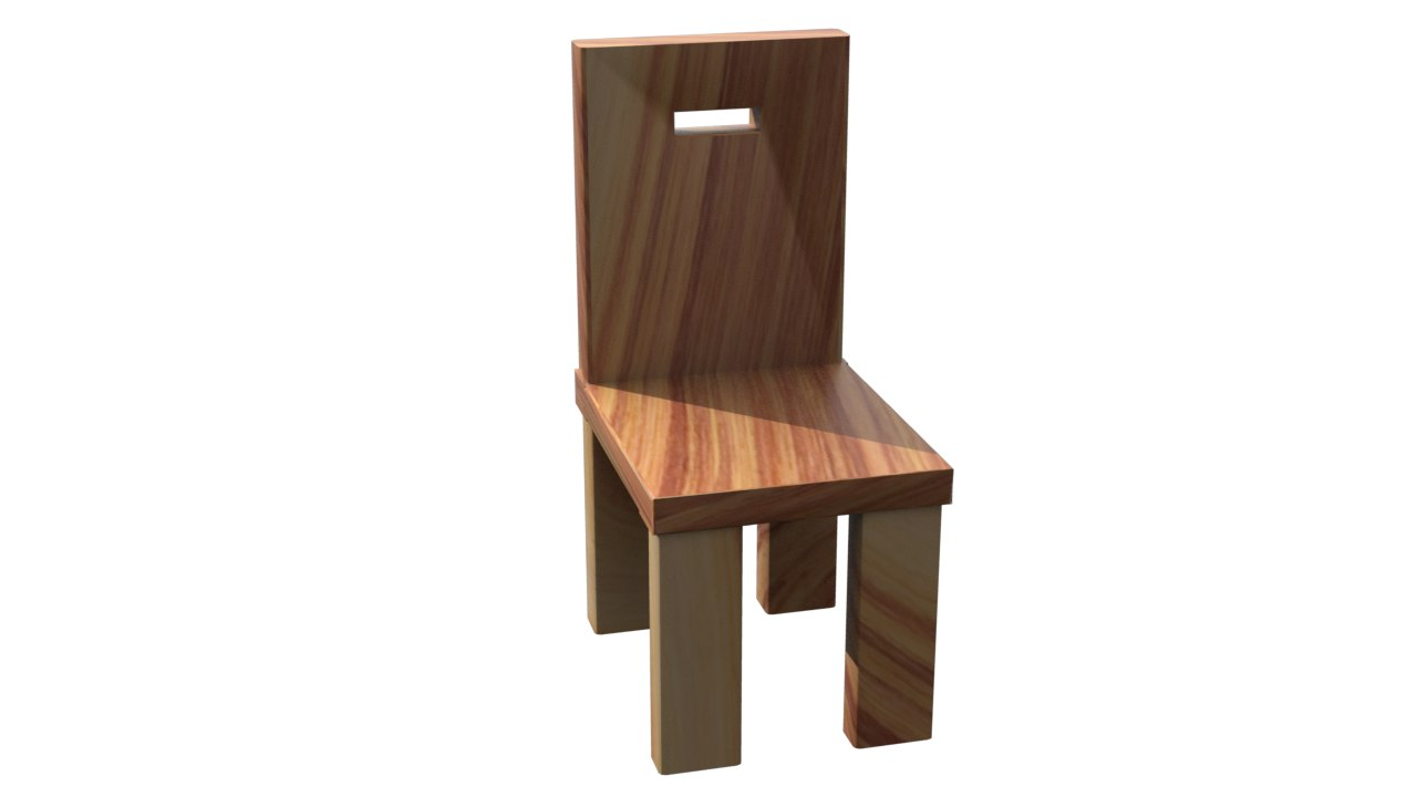 chair object lxf 3d obj