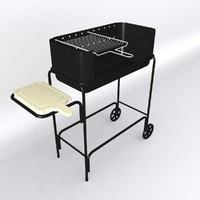 barbecue grill 3d max
