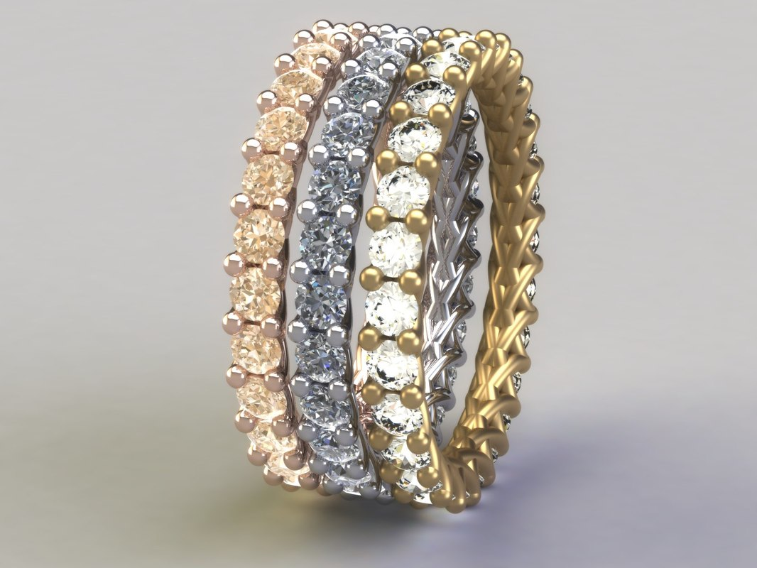 3d eternity ring