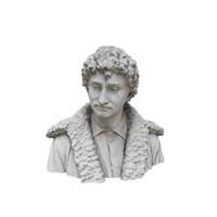 3d man statue bust model