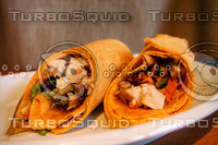 Tortilla Wrap with chicken Teriyaki