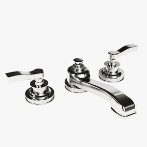 asbury lever-handle widespread faucet 3d ma