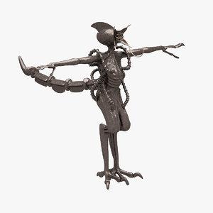 3d model alien concept 2016