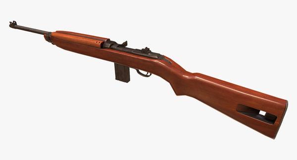 3d model m1 carbine rifle gun