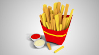 Lowpoly French Fries