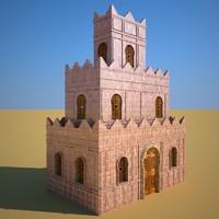 3d model kasbah