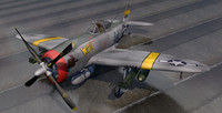 republic p-47d-25 thunderbolt bubbletop 3d 3ds