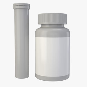 obj vitamin bottle tube