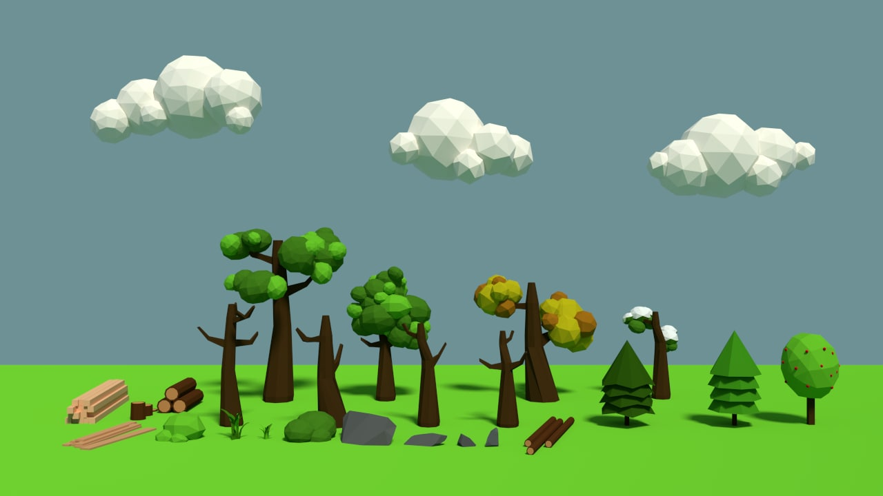 3d nature pack trees