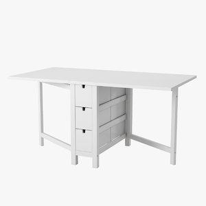 norden gateleg table 3d max