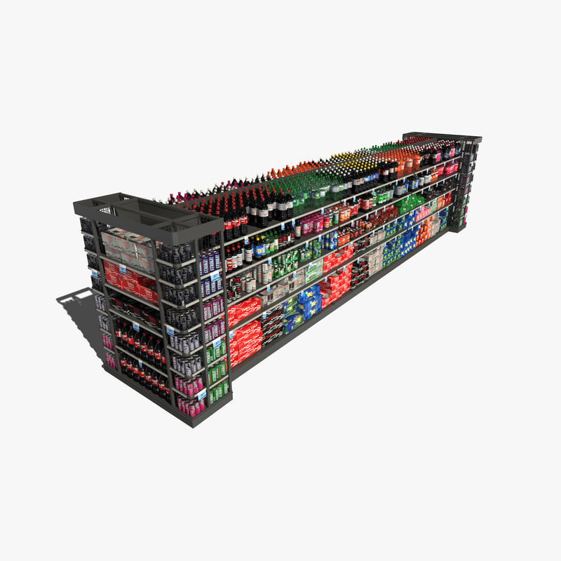 3d model store shelf generic