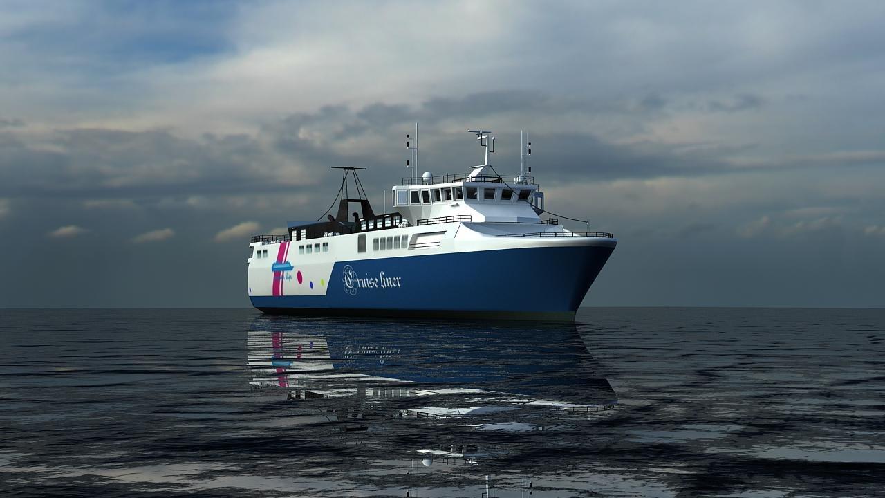 3d ship liner model