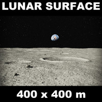 3d model lunar surface