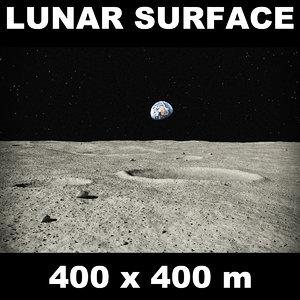 3d model lunar surface