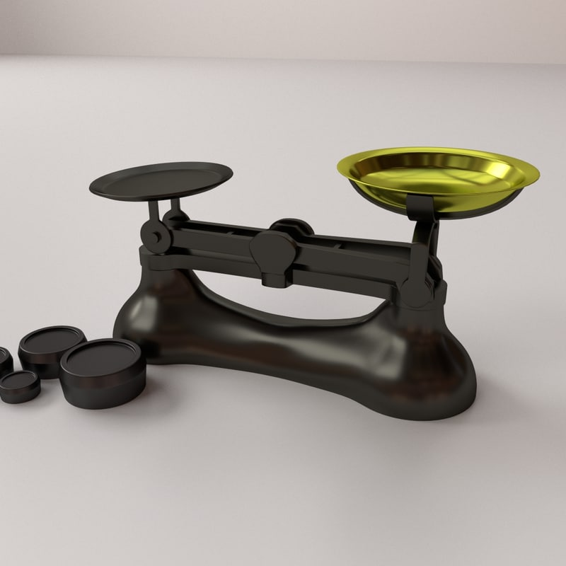 3d kitchen weighing scale
