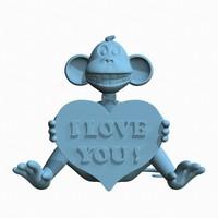 Monkey Love 3D print