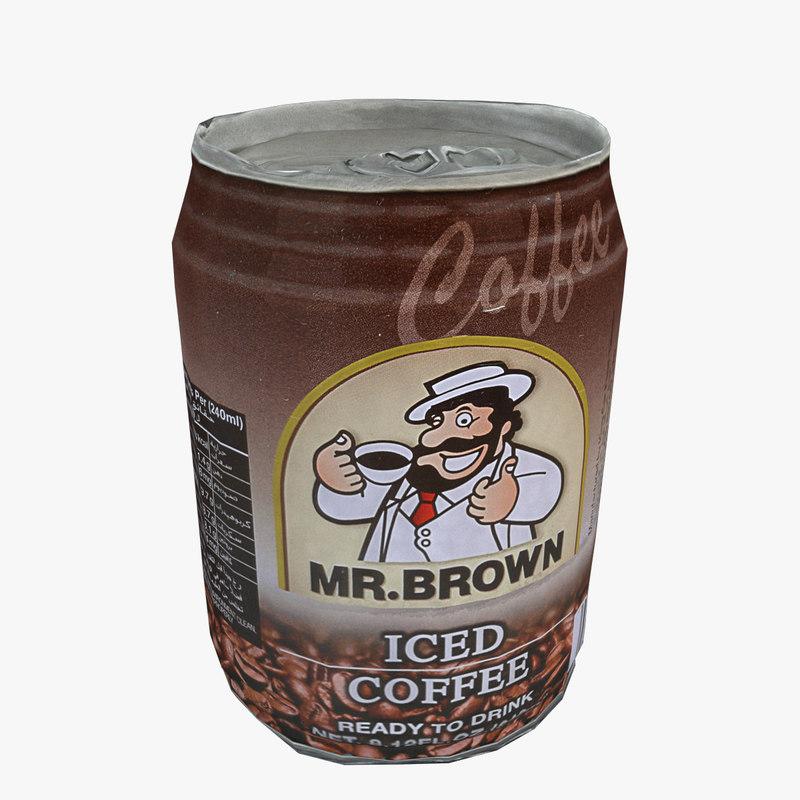 3d model iced coffee