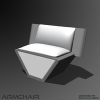 3d andromeda armchair