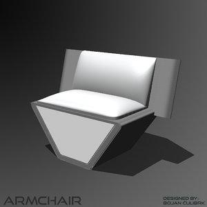 3d andromeda armchair