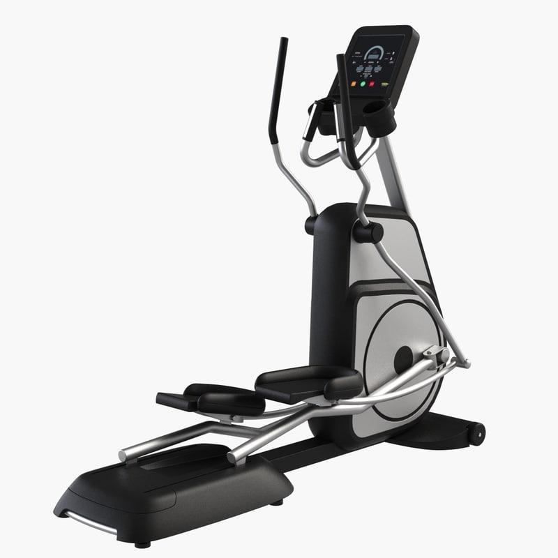 3d gym equipment elliptical trainer