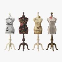 mannequins 3d obj