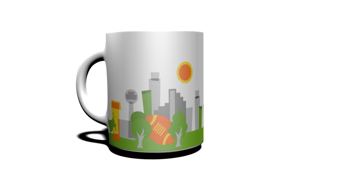 cup dallas 3d model