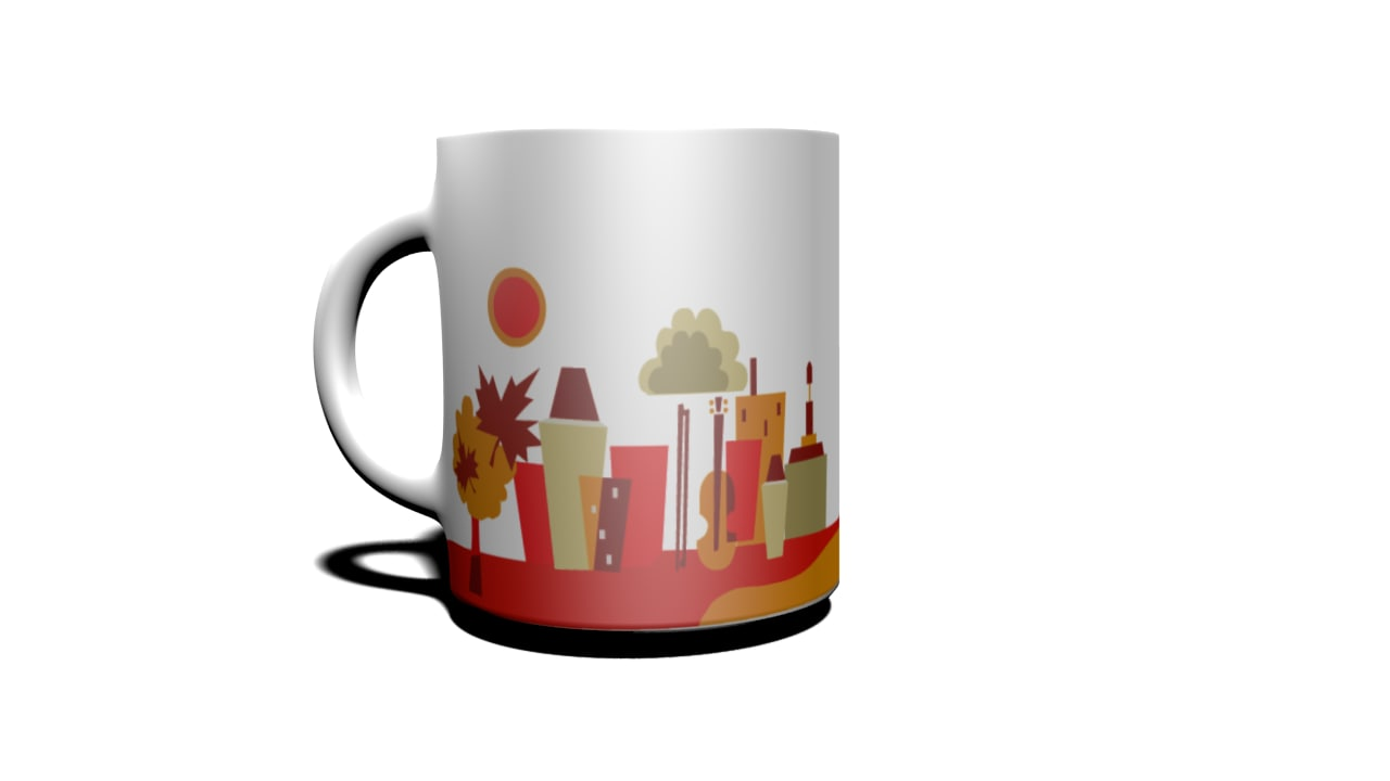 cup montreal 3d obj