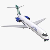 boeing 717 200 airtran 3d max