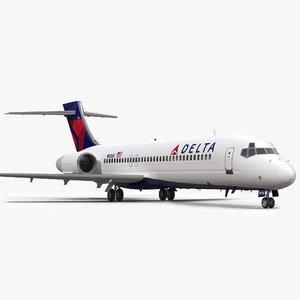 boeing 717 200 delta 3d max