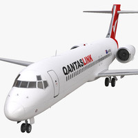 3d model boeing 717 200 qantas