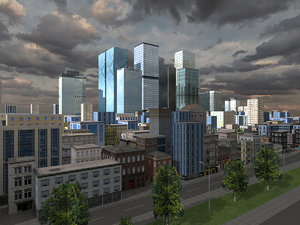 3d model city skyscraper buildings