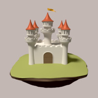 medieval fortress 3d model